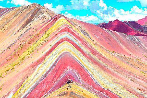 Lo hermoso de Vinicunca o Montaña de Colores
